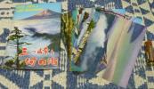 絵葉書 三つ峠と河口湖 8枚 三つ峠 河口湖 富士山