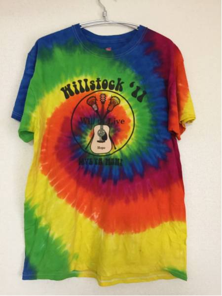 '11 hillstock will to live タイダイプリントTシャツ size L