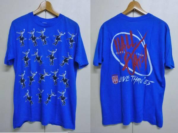 N278【80s】ホール&オーツ ビンテージLIVE Tシャツ/総柄