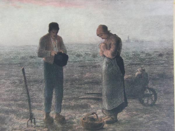 J.F.ミレー、限定・1906年、希少画版画、 L'Angelus