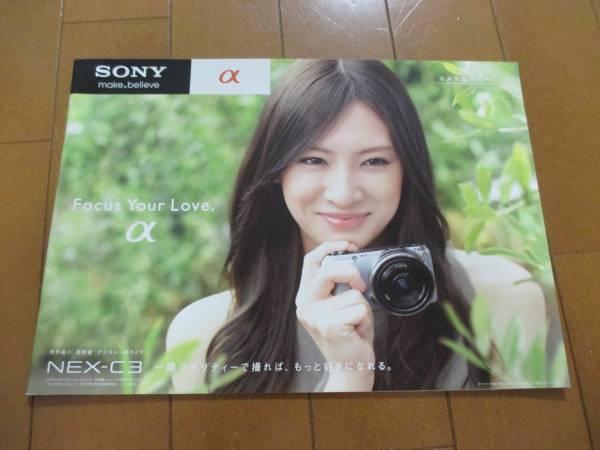 B6386カタログ*ソニー*α NEX-C3*2011.6発行19P