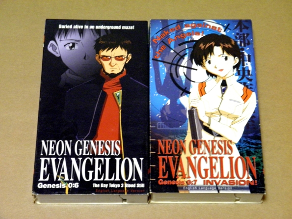 新世紀エヴァンゲリオン 英語版 VHSビデオ 2本
