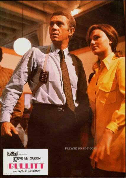 1968年 映画 『BULLITT』ブリット ロビーカードス ペイン語三枚