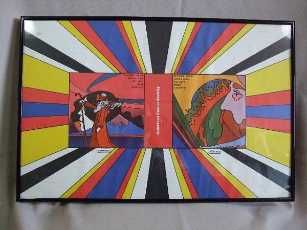 1967s Peter Max / American Cancer Society / ピーターマックス アメリカ癌協会 禁煙促進ポスター 額装品 ビンテージ_1967s Peter Max / American Cancer Socie