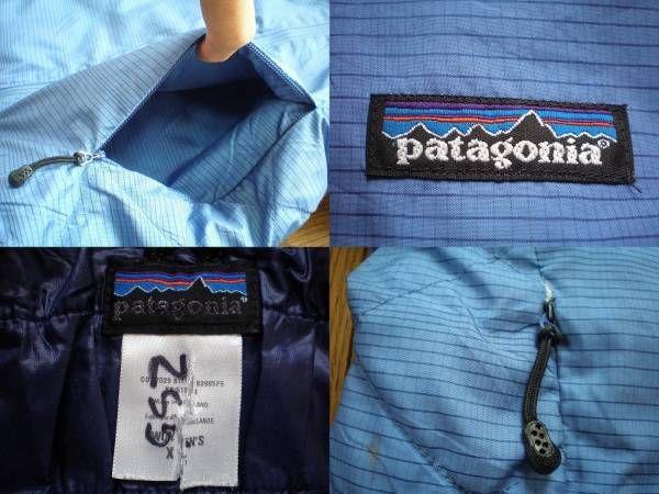 パタゴニア 中綿入り フード ジャケット 女性用 XSフーディーPATAGONIAパーカー シェル マウンテン ブルゾン ナイロン アウトドア キャンプ_画像3