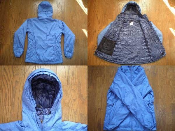 パタゴニア 中綿入り フード ジャケット 女性用 XSフーディーPATAGONIAパーカー シェル マウンテン ブルゾン ナイロン アウトドア キャンプ_画像2
