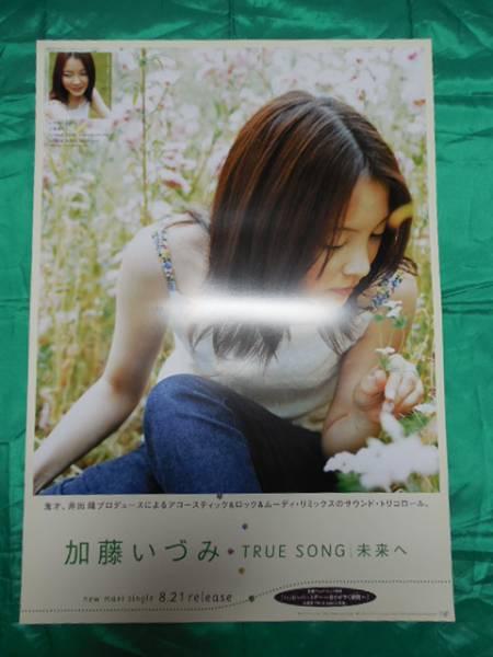 加藤いづみ TRUE SONG 未来へ B2サイズポスター