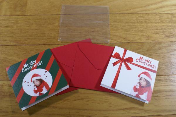 チャングンソク クリスマスカード 9.5 × 9.5cm 送料180円