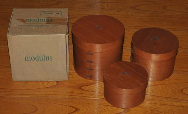 新品 マレーシア製 modulus 木製 ケース 収納 入れ物 3個 2365