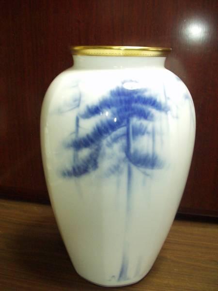 一時大値下げ  大倉陶園  花瓶 松林図 (長谷川等伯) 箱付 未使用 HT54ー80KJ