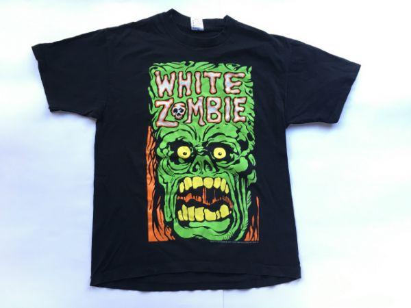 90'sUSA製WHITE ZOMBIEホワイトゾンビオフィシャルTシャツ(XL)黒