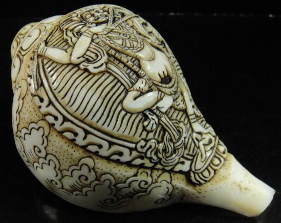 密教法具 法螺貝(シャンカ)クルックラー(赤ターラー)