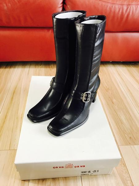 新品 サヴァサヴァ cavacava ジッパー付 ロングブーツ 定価2.4万 サバサバ ブーツ ジョッキーブーツ