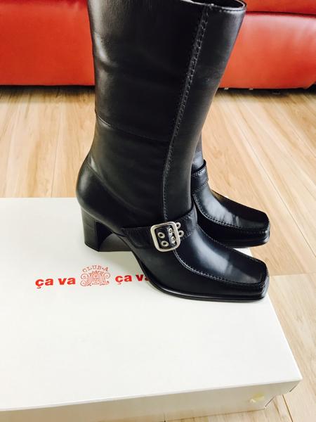 新品 サヴァサヴァ cavacava ジッパー付 ロングブーツ 定価2.4万 サバサバ ブーツ ジョッキーブーツ_画像2