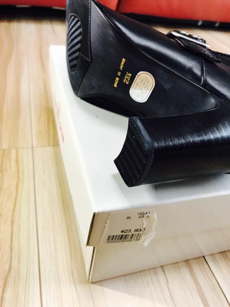 新品 サヴァサヴァ cavacava ジッパー付 ロングブーツ 定価2.4万 サバサバ ブーツ ジョッキーブーツ_画像3