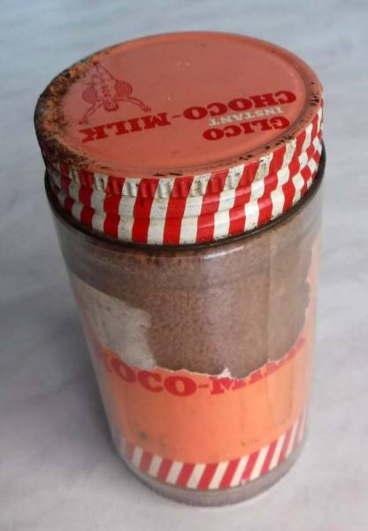 GLICOグリコの瓶ガラス万歳おじさんアドバタイジング看板キャラクター広告チョコミルク販促ドリンクものコレクションにどうぞ!_画像3
