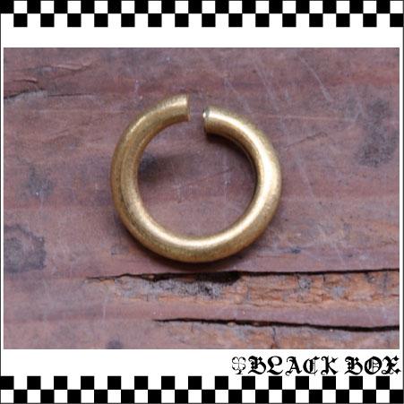 solid Brass ソリッド ブラス 真鍮 無垢 生地 レザークラフト パーツ 金具 ウォレットチェーン キーホルダー マルカン 12mm 10個 日本製_画像2