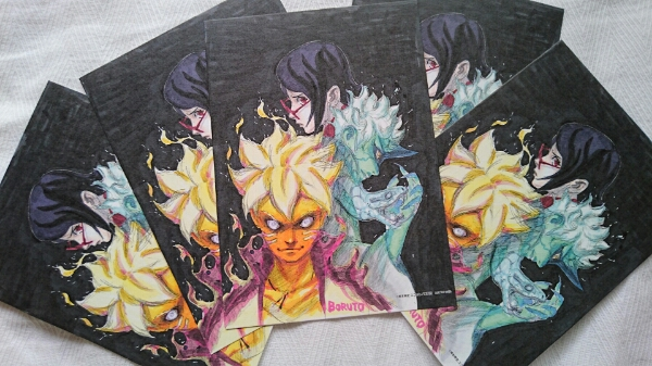 ポストカード大5枚セット★BORUTO 集英社 宣伝用 カード 岸本斉史 スコット ナルト