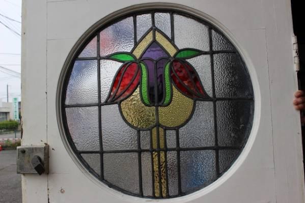 イギリス アンティークドア ステンドグラス ステンドグラスドア ドア ステンドガラス 英国製 p185_画像2