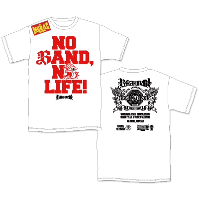BRAHMAN×MOBSTYLES×TOWER RECORDS<NO BAND, NO LIFE! Tシャツ ライブグッズの画像