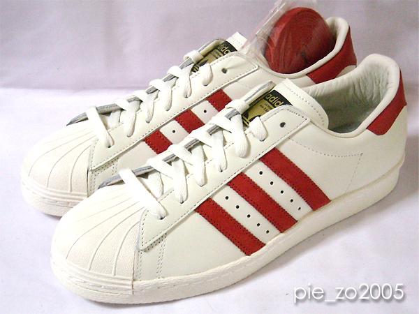 adidas Superstar 80s Vintage Deluxe 白赤 29.5 スーパースター_画像1