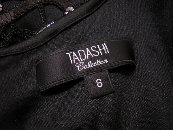 美品 TADASHI SHOJI タダシ・ショージ スパンコール刺繍 ブラック ドレス ワンピース_画像3
