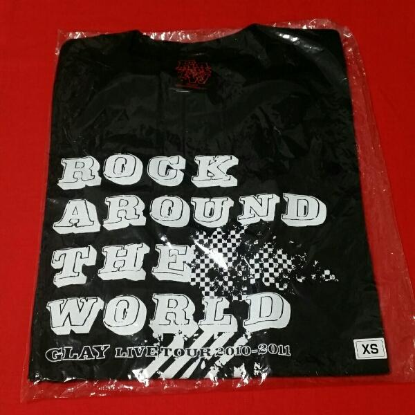 GLAY ROCK AROUND THE WORLD ホール Tシャツ ブラック XS 新品