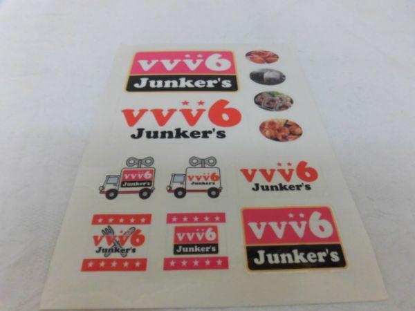 (3898)V6 VVV6 Junker's シール ステッカー 未使用 難有り