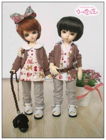 【小猫汪】幼SD男の子用お洋服4点セット_画像2