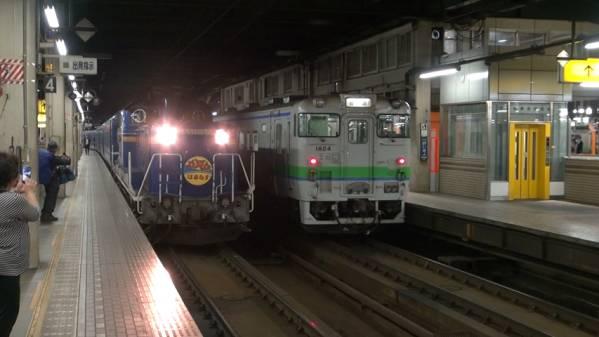 急行「はまなす」 車窓 札幌→青森 (字幕無/有BD-R DL1枚)_札幌駅に入線
