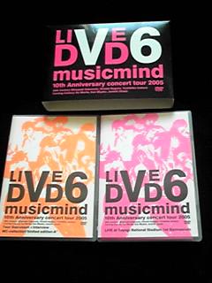 V6 LIVE DVD musicmind 2005 10周年記念 ライブコンサートツアー コンサートグッズの画像