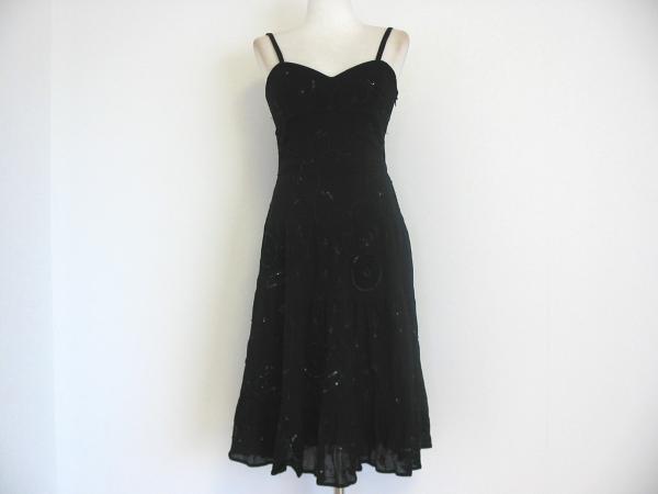 ★お値下げ★新品日本未発売LAUNDRY★刺繍ビーズ黒ドレス4_画像1
