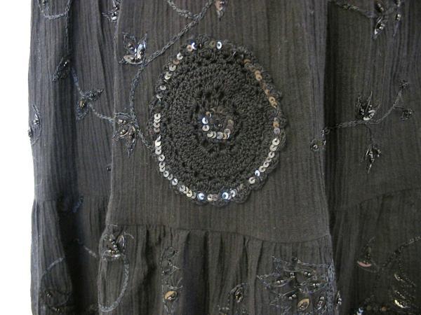 ★お値下げ★新品日本未発売LAUNDRY★刺繍ビーズ黒ドレス4_画像3