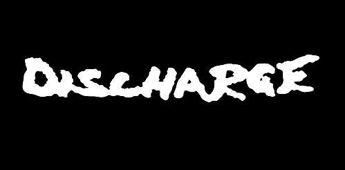 【白】 2枚セット売り カッティング ステッカー デカール ハードコアパンク HARD CORE PUNK DISCHARGE ディスチャージ ロゴ
