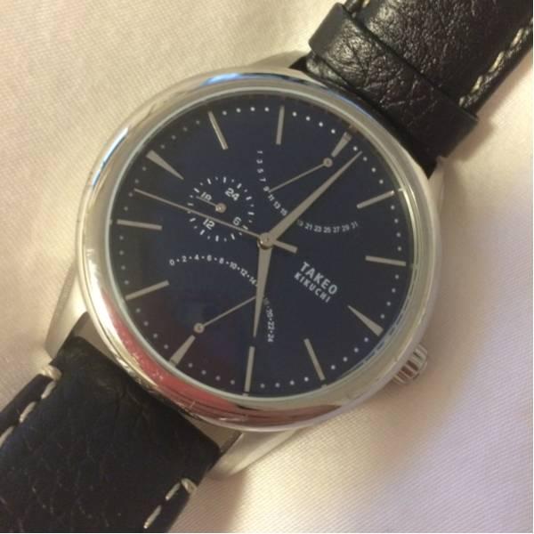 new product 616bb 51ce7 美品 タケオキクチ時計 メンズ レザーベルト 送料定形外郵便500円
