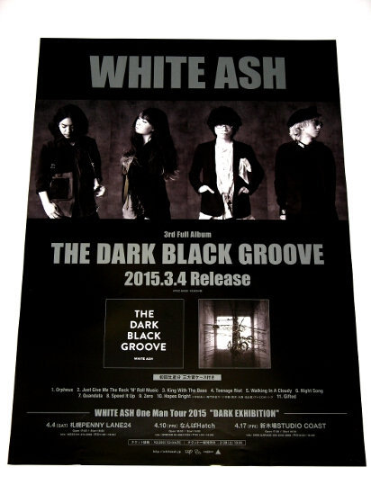 ю4 告知ポスター [THE DARK BLACK GROOVE] WHITE ASH