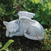 眠るねこの天使 庭用置物雑貨飾り屋外インテリア猫の飾り
