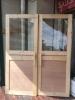 手作り木製SHOP玄関ドア 2枚組 好評に付(い)