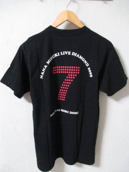 水樹奈々 '09ライブダイアモンド ツアーTシャツ 黒 Mサイズ