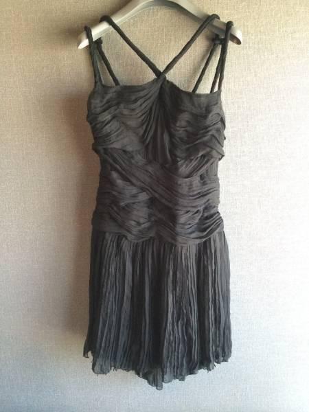 極上 新品 プラダ 最高級 シルク リボン ワンピース ドレス 40 ブラック フォーマル PRADA_画像1