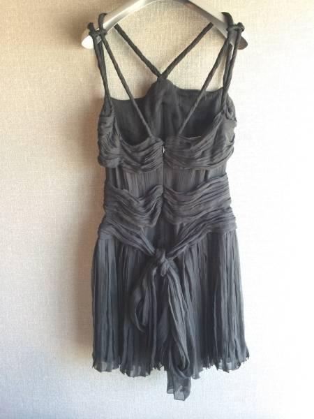 極上 新品 プラダ 最高級 シルク リボン ワンピース ドレス 40 ブラック フォーマル PRADA_画像2