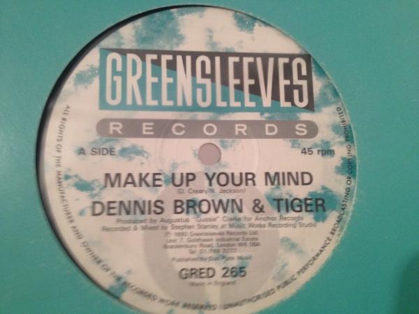 ★Dennis Brown & Tiger/Make Up Your Mind★人気コンビ!_画像1