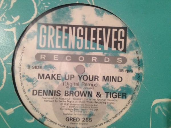 ★Dennis Brown & Tiger/Make Up Your Mind★人気コンビ!_画像2