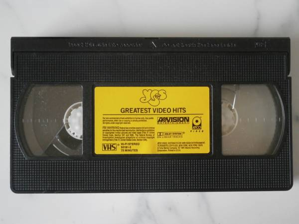 Yes - Greatest Video Hits ★VHS yy*si_画像3