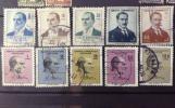 古いトルコ切手★ケマル・アタチュルク10種 1961年以降発行