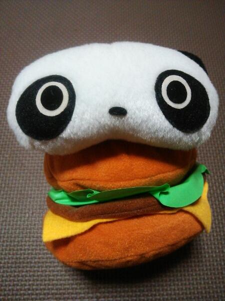 たれぱんだ ぬいぐるみ煩悩百八つ 14㎝ 美品 ハンバーガー SAN-X サンエックス レトロ レア ゆるキャラ グッズの画像