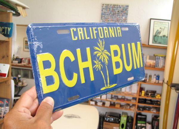 California Surfer License Plates Beach Bum