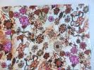 ◆リネン100%*おしゃれな花柄プリント生地