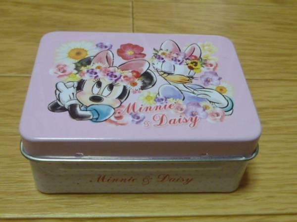 切手可●ミニー&デイジー 小物入れ ケース 缶入りWクリップ ダブルクリップ 缶●ディズニー 完売品 ディズニーグッズの画像