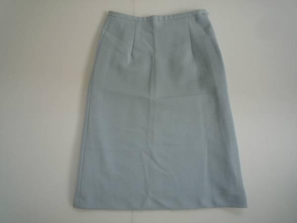 【良品!!】●台形スカート● 水色 7分丈 64-91